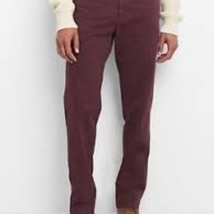 GAP lived in Straight pants in cherrywood sz 34x32
